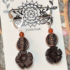 Casey Keith Design Jewelry - Floral Copper Spiral Earring